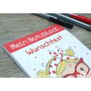 Notizblock DIN A6 Marienkäfer-Mädchen (personalisierbar)