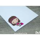 Notizblock DIN A6 Einschulung Mädchen (personalisierbar)