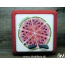 Melone / Melonen-Pizza Motiv-Vollschutzfolie