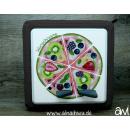 Obst / Obst-Pizza Motiv-Vollschutzfolie