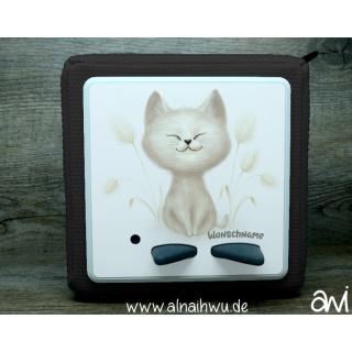 flauschige Katze Motiv-Vollschutzfolie