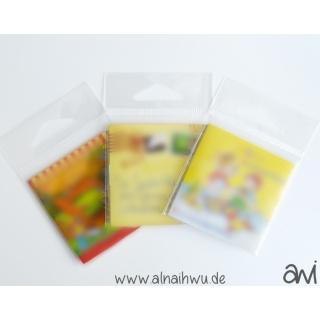 25x transparente Beutel für kleine Booklets (ca. 6x6 cm)