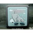 Eisbär / Polarbär mit Schnee-Hasen...