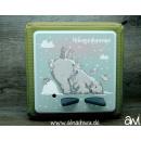 Eisbär / Polarbär mit Schnee-Hasen Motiv-Vollschutzfolie