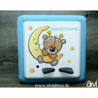 Bär Bärchen auf Mond Motiv-Vollschutzfolie