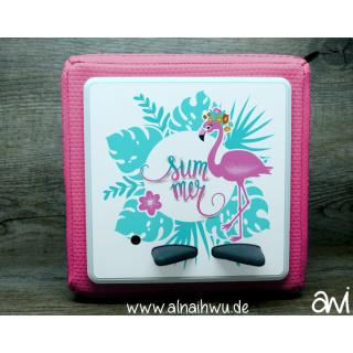 Sommer Flamingo Motiv-Vollschutzfolie