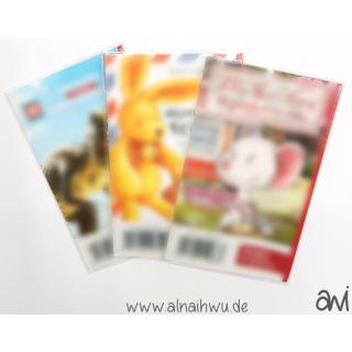 25x transparente Beutel (ohne Aufhängung) für große Booklets (ca. 7x11 cm)