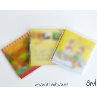 25x transparente Beutel (ohne Aufhängung) für kleine Booklets (ca. 6x6 cm)
