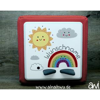 Sonne Wolken Regenbogen Motiv-Vollschutzfolie