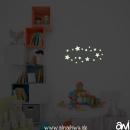 Wandtattoo Sterne leuchtend
